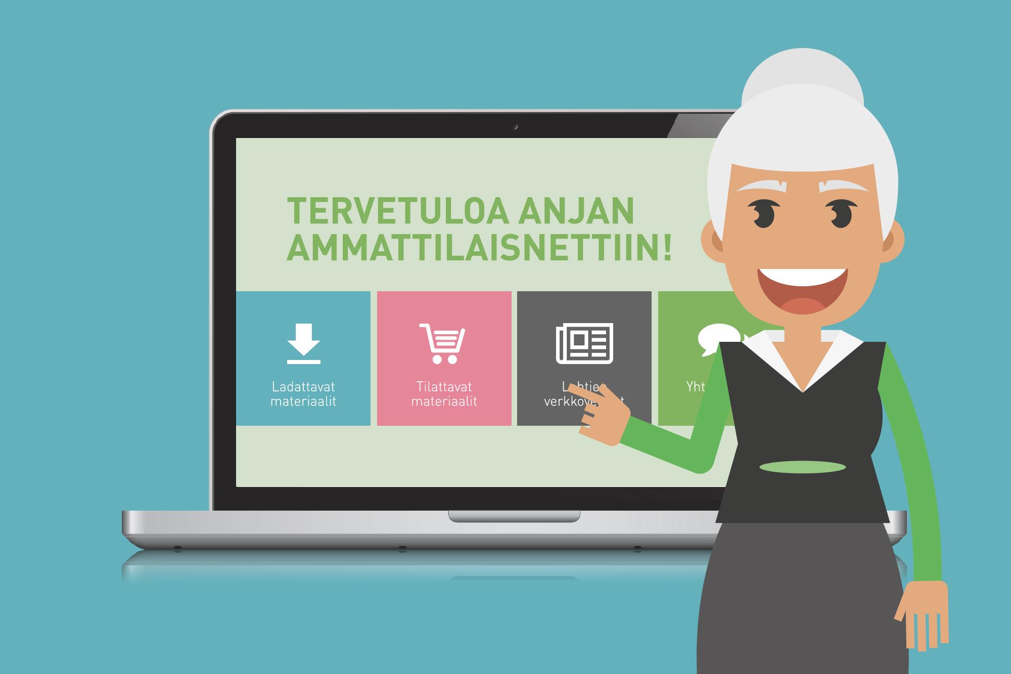 Tilaa Anja-materiaalit Ammattilaisnetistä